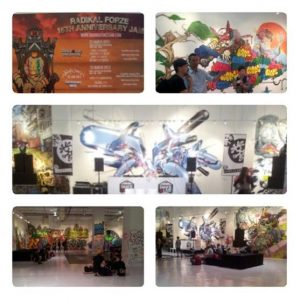 Graffiti at Singapore Radikal Forze 15th Anniversary Jam